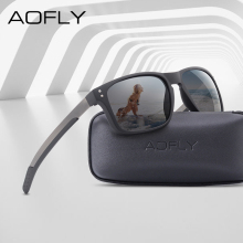 AOFLY BRAND DESIGN Classic Polarized Sunglasses Men Mirror D