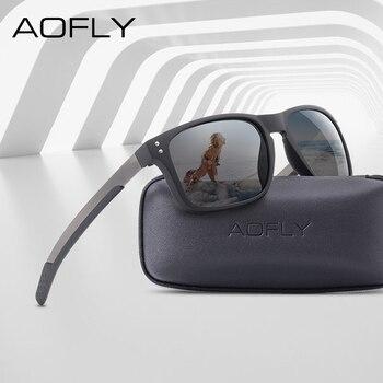 AOFLY BRAND DESIGN Classic Polarized Sunglasses Men Mirror Drive Male TR90 Flexible Frame Eyewear Female Gafas UV400