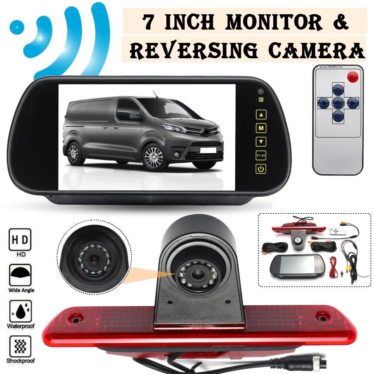 CCD HD Car Rear View Camera Brake Light Parking Reverse 7