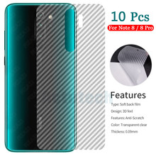 10Pcs Xiao mi red mi note 8 7 K20 Pro 7A Carbon FIBER Back film For Xiao mi mi 9T Pro A3 CC9 Rear Back Cover Protection Film mi