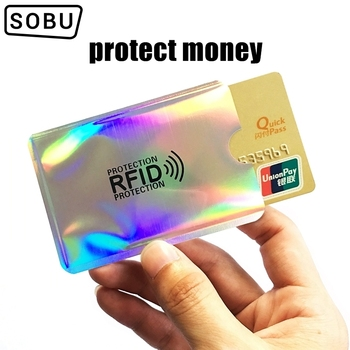 5PC New Multicolor Laser Aluminium Anti Rfid Wallet Blocking Reader Lock Bank Card Holder ID Bank Card Case Men Protection H119