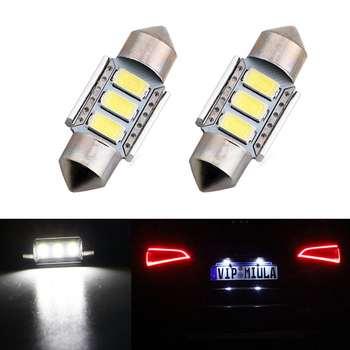2xLED 36mm Canbus C5W Bulbs Interior Lights License Plate Light For Mercedes Benz W208 W209 W203 W169 W210 W211 W212 AMG CLK image