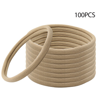 100pcs/lot Nylon Headband Soft Stretchy Head Band for DIY Baby Girl Hair Accessories Kids Children Elastic Headwear Accessories