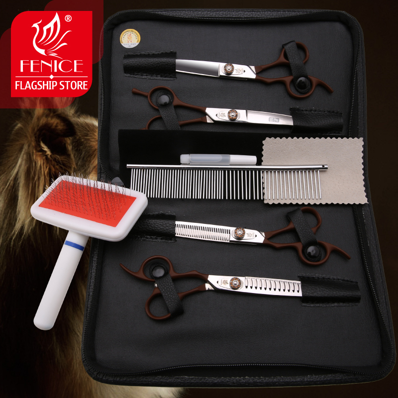 New-design-left-handed-7-0-inch-pet-grooming-scissors-set-straight-thinning-curved-scissors (4)