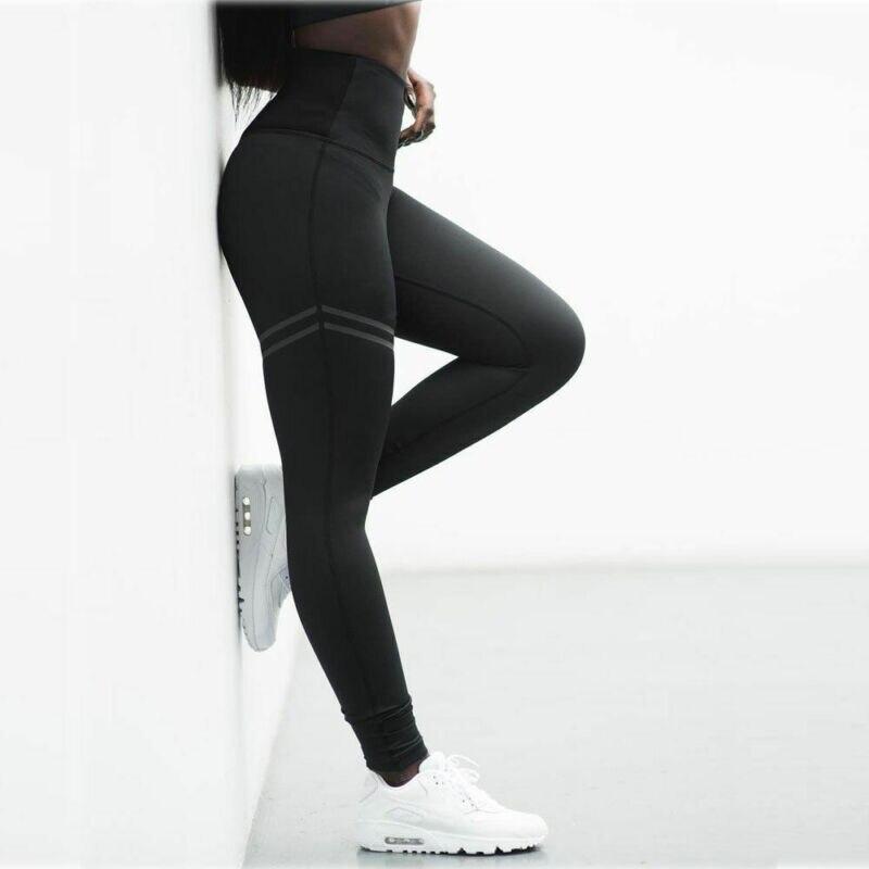 Women's Pants Fitness Leggings Printed High Waist Pants Running Gym Sport Jogging Pants Trousers