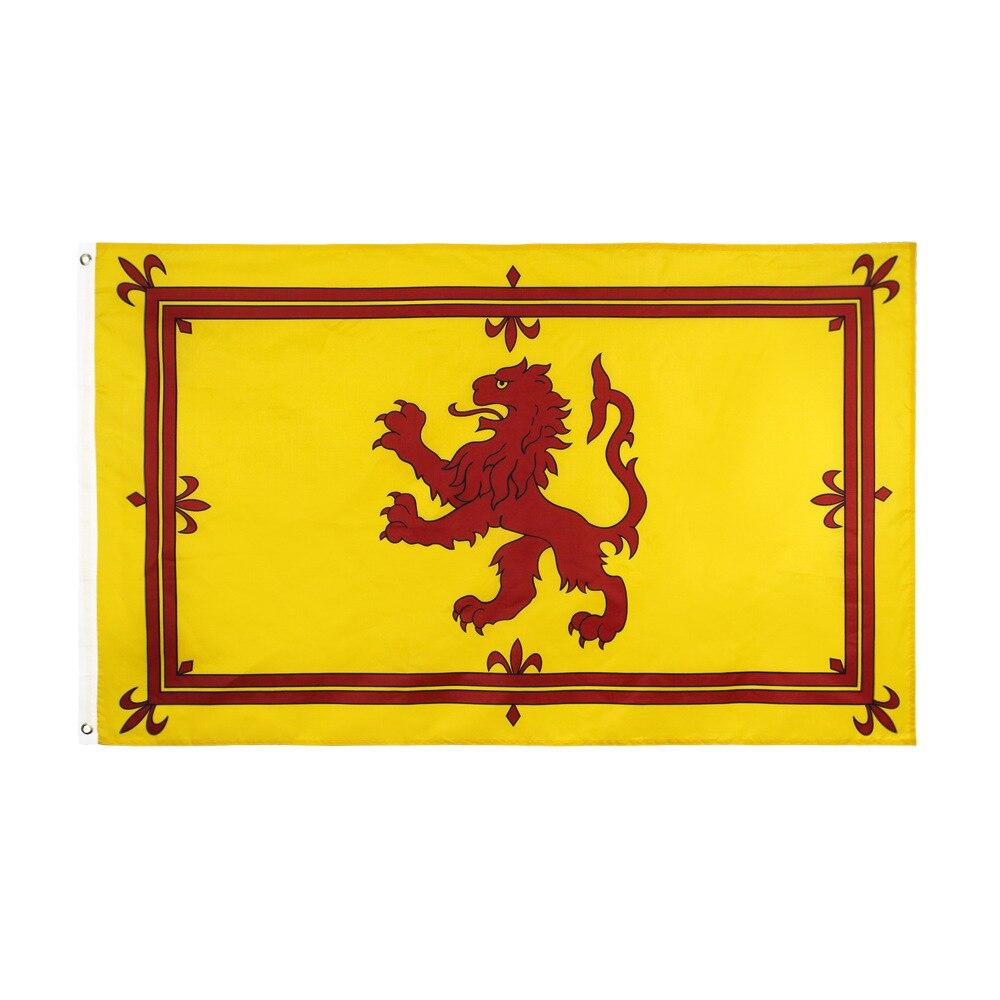 Scotland Lion Royal Flag Lion Crest German Germany Flag 150* 90cm 3ft x 5ft Custom Banner Metal Holes Grommets