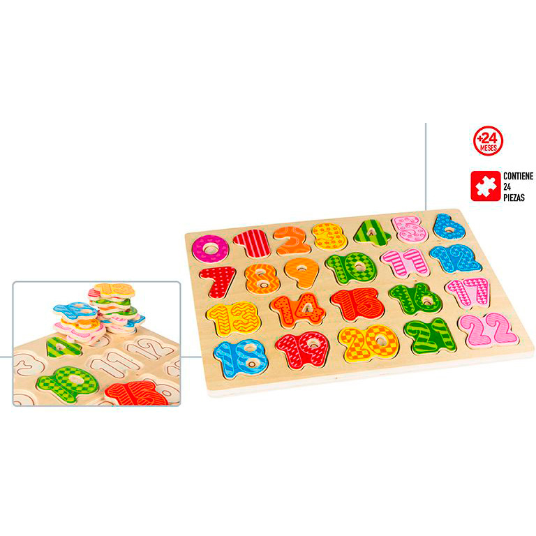 Puzzle Wood Numbers 27 Pcs - Regalos Baby And Infants Funny Activities, Teaching, Games Application