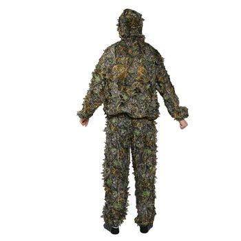 1 Set Hunting Clothes 3D Leaf Coat Trousers Camouflage Outdoor Jungle Watch Bird Drop Shipping 2