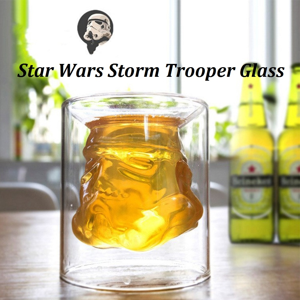 650ml Storm Trooper Decanter Star Wars White Soldier Glass Jug Liquor Bottle High Boron Glass Bottle Wine 150ml Transparent Mugs