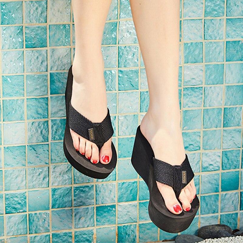 Boree Flip Flops Women Solid Color 2020 Summer Slippers Ladies Shoes Indoor Outdoor Flip-flops Beach Shoes Female pantoufle