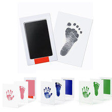 Baby Care Non-Toxic Handprint Footprint Imprint Kit Souvenirs Casting Newborn Ink Pad Infant Clay Toy Dog Cat Paw Gifts(China)
