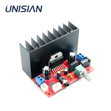 Unisian tda7377 2.0 canais placa amplificador de potência 2x30w canais duplos amplificadores de som de alta fidelidade para alto falante casa sistema de áudio