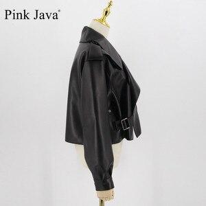 Image 4 - Hồng Java QC20003 Mới Xuất Hiện Thật Áo Khoác Da Nữ Phối Chính Hãng Cừu Phối Da Thời Trang Cao Cấp Bán Đầm
