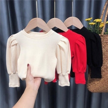 Blouse Spring Kids Shirt Girl Tops Toddler Children Clothing Long-Sleeve Autumn Solid