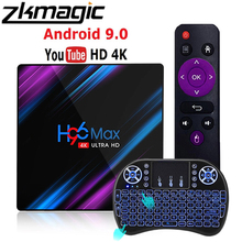 Google Play Tv box android 10 H96 MAX Rockchip 4G 16GB 32GB 64GB Android tv box 2.4/5.0G WiFi Bluetooth 4.0 4K 3D Android box