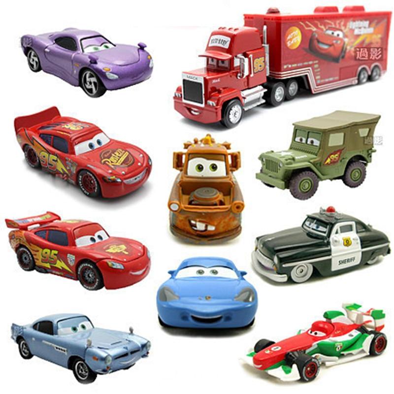 Disney Pixar Alloy Car 2 Pull Back Diecast Model Toy Car Vehicle Toys 1:60 Diecast Metal Pull Back Car Toy Model Boys Gifts