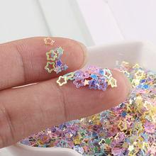 4mm Aushöhlen Pflaume Blume Nagel Verzierungen Pailletten Für Handwerk Handwerk Dekorationen Füllen Glitter Star Paillette Diy Material