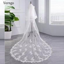 Verngo 2020 новая Кружевная аппликация 3 метра Длинная свадебная