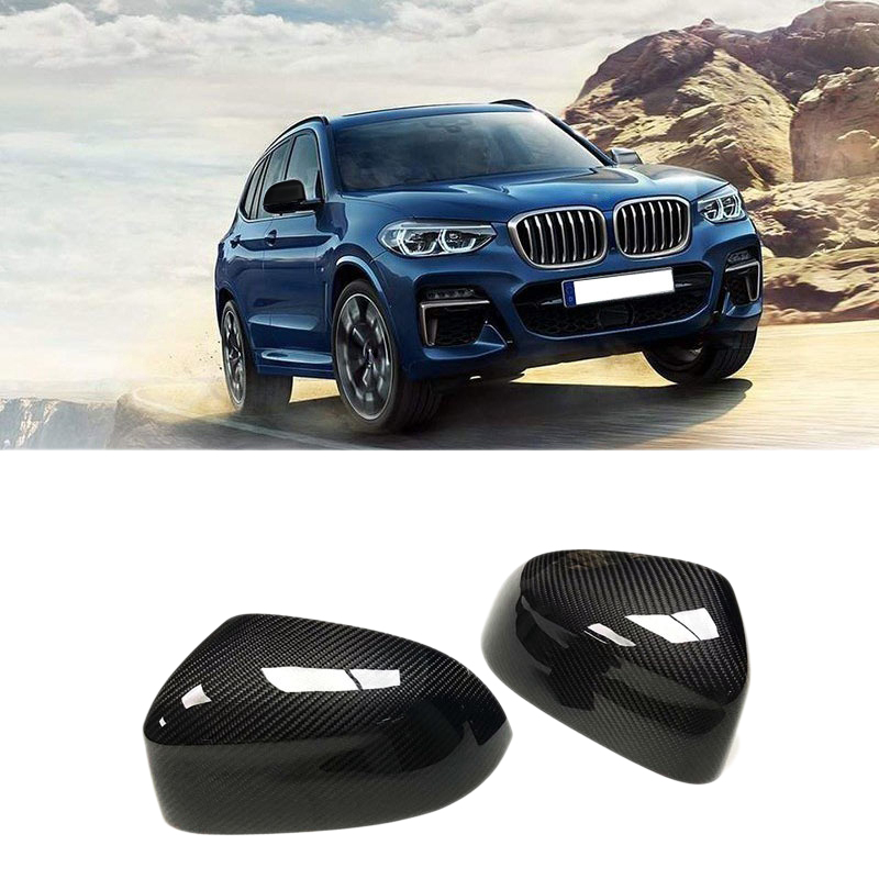 Carbon Fiber Rearview Mirror Cover Replacement for BMW X3 G01 X4 G02 X5 G05 2018-19