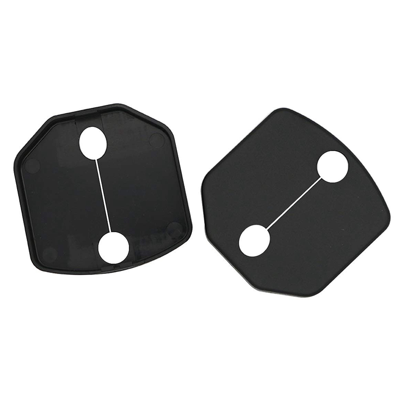 Door Lock Buckle Cover Protector For Ford Mustang Car Door Lock Cap Frame Trim Decoration 2015 2016 2017 2018 (ABS Plastic Black