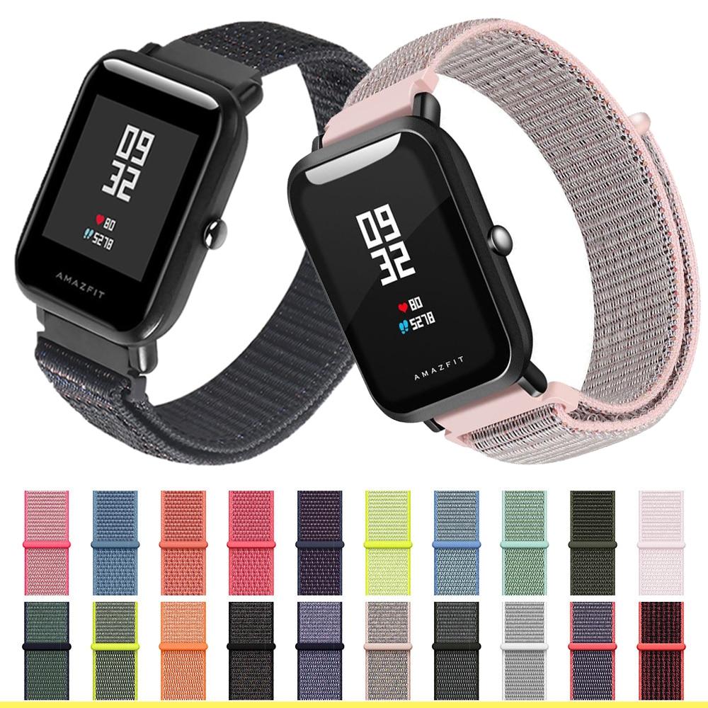 nylon strap 20mm 22MM for Amazfit Bip Smart Wrist loop weaving watch Pace amazfit stratos GTR 42mm 47mm Watchband Brecelet