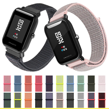 nylon strap 20mm 22MM for Amazfit Bip Smart Wrist loop weaving watch Pace amazfit stratos GTR 42mm 47mm Watchband Brecelet