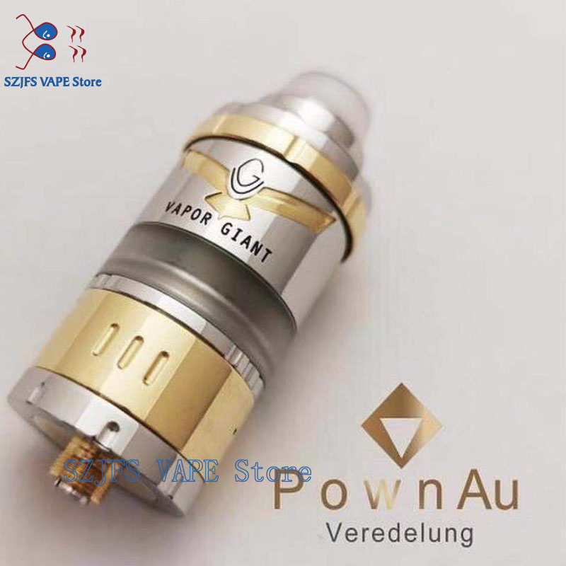 VG Kronos 2S RTA MTL Or DL ​​System 316 SS Adjustable Bottom Airflow Tank 23mm 4ML Capacity Single Coil Atomizer Giant M5 V6s