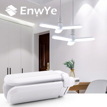 EnwYe LED folding leaf lamp 30W 45W 60W E27 AC 220V 230V 240V Super bright adjustable angle bulb