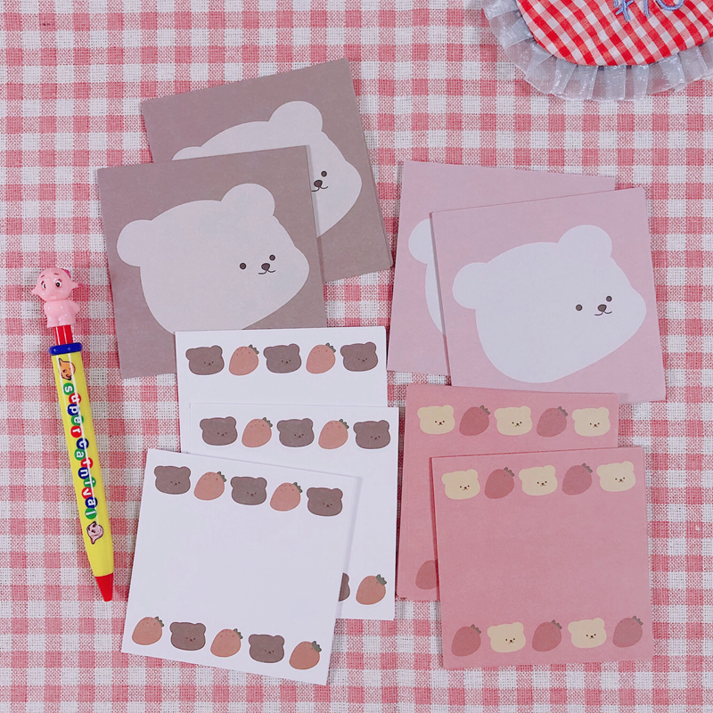 30Sheets/Lot Kawaii Korean INS Cute Bear Carrot Memo Pad N Times Sticky Notes Portable Notepad School Office Supply Stationery