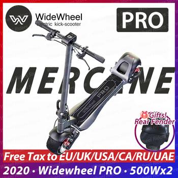 2020 nowy Mercane WideWheel PRO elektryczna deskorolka 1000W dwukołowiec Kickscooter podwójny silnik hamulec tarczowy Hoverboard inteligentne koło tanie i dobre opinie 501-1000 w 48 v Unisex 6-8 h 40-60 km Dwa koła skuter 8 cal
