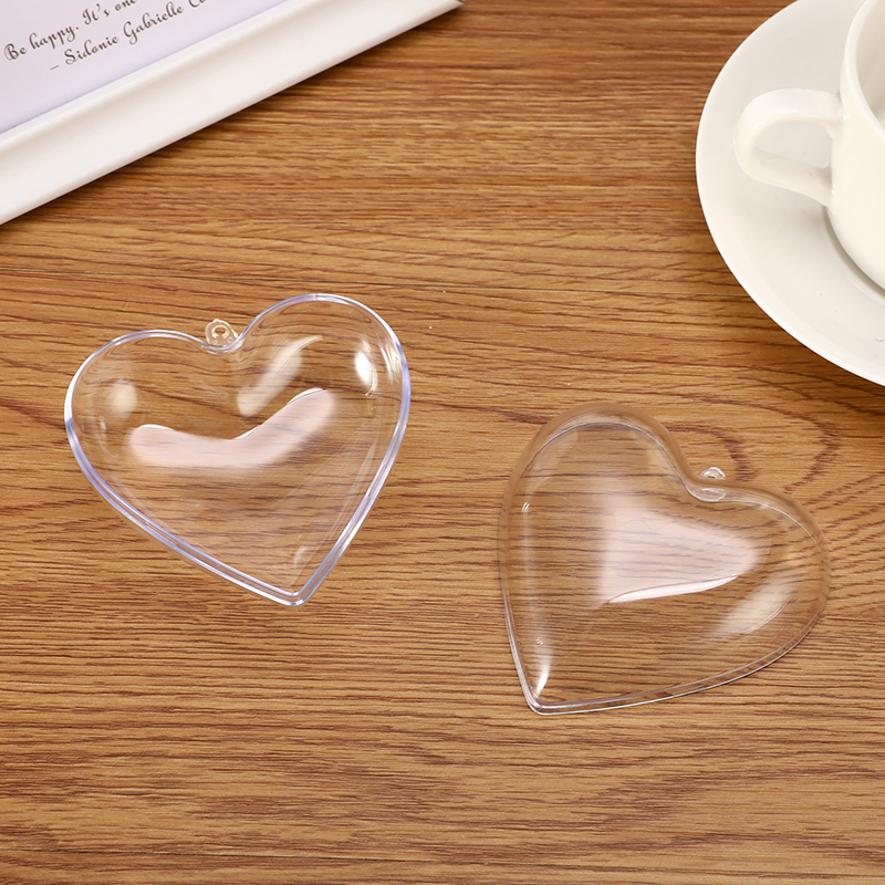 1/2 Set 65/80mm Heart Shape Bath Bomb Mold DIY Clear Plastic Bath Bomb Mould Acrylic Mold Bath Accessories DIY Chrisemas Xmas