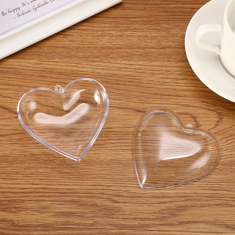 1/2 Set 65/80mm Heart Shape Bath Bomb Mold DIY Clear Plastic Bath Bomb Mould Acrylic Mold Bath Accessories DIY Chrisemas Xmas