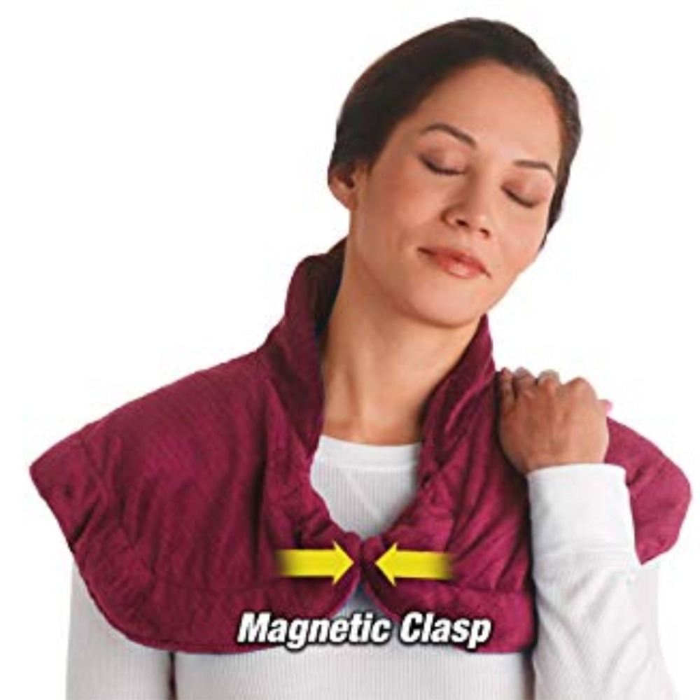 HOT Thermapulse Relief Wrap Burgundy Extra Long Massaging Heat Wrap heated shawl combines soothing heat and massage Accessories