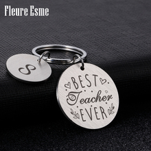 Teacher Keychain Engraved Gifts for Teacher Appreciation Key charms Retirement End of Year Gift for Instructor Professor Mentors
