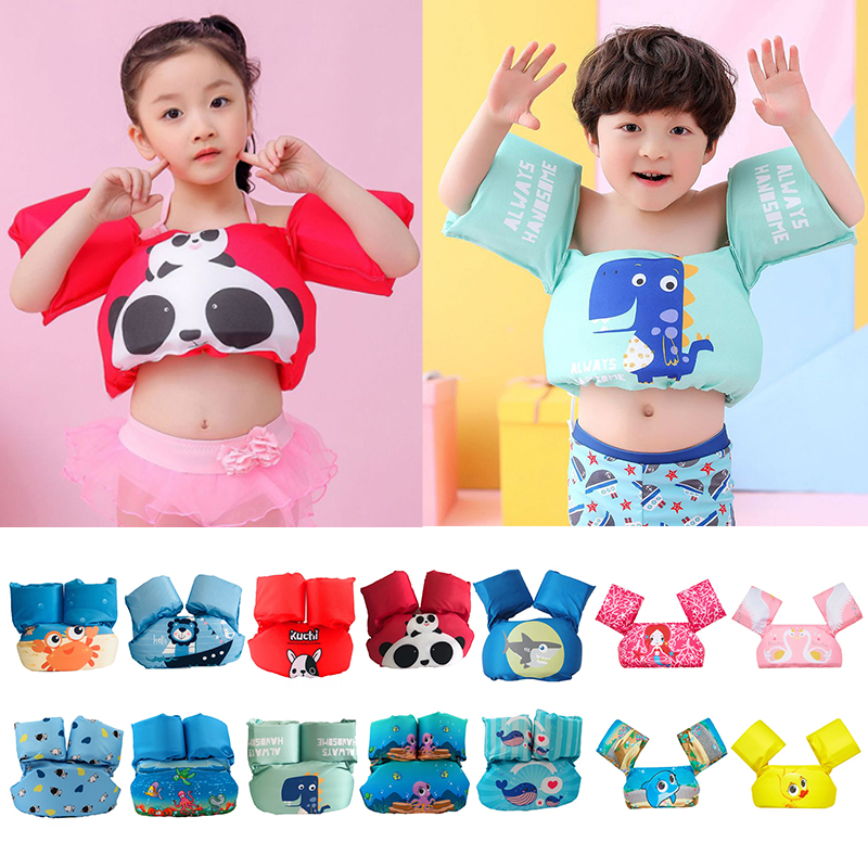 Swim Circle Tube Ring Swimming Rings Puddle Jumper Baby Kids Arm Ring Life Vest Floats Foam Safety Life Jacket Arm Circle 8