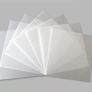 2/5 мм матовая акриловая пластина органическое стекло пользовательский размер и форма DIY светильник коробка знак номер дома конфиденциально...