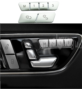 Car Styling Door Seat Memory Lock Buttons Trim Covers Stickers for Mercedes Benz C E Class W204 W212 CLA/GLA/GLK/GLE/CLS/GL/ML/A