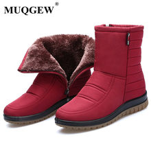 Winter Women Snow Boots Ladies Waterproof Thick Plush Warm Ankle Boots Platform Cotton Shoes Female Botas Mujer Zapatos 35-43(China)