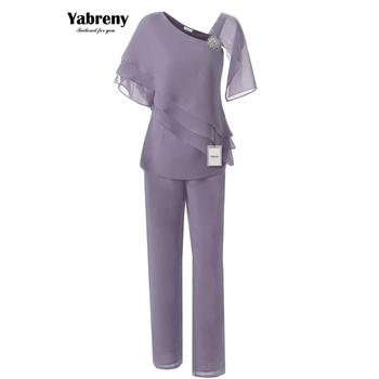 Yabreny New arrival Two picec Chiffon Mother of the Bride Pants suit 2PC Outfit MT001702-2