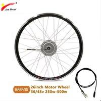 BAFANG Electric Bike Motor Front Wheel 26inch 250 500w 8FUN Brushless Gear Hub Motor Bicicleta Eletrica Ebike Conversion Kit