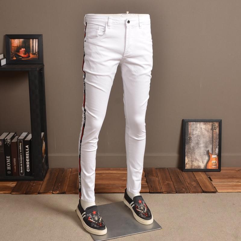 Alion Men Jeans Casual Denim Slim Fit Cotton Jeans Pants