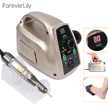 Strong 65W Electric Nail Drill 35000RPM Manicure Machine Pedicure Tools Accessoires Drill Bits File Nail Art Equipment With LCD