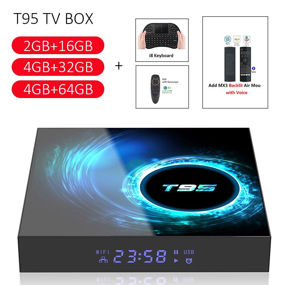 2020New  T95 Smart TV Box Android 10.0 4GB 32GB 64GB Allwinner H616 Quad Core 1080P H.265 4K Media Player 2GB 16GB Set Top Box