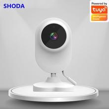 SHODA Baby Monitor 1080P High Resolution Tuya APP Home Camera Indoor Wifi Baby Smart Camera Night Vision Temperature Monitoring