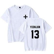 TXT YEONJUN 13 camiseta para hombre Camiseta de alta calidad Harajuku de talla grande Top TXT camiseta blanca XXS-4XL Nuevo 2020