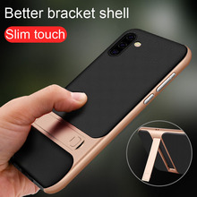 цена на For Samsung Galaxy Note 10 Plus Case TPU Silicone+PC Stand Holder Cover For Samsung Note 10 Plus Case Shockproof Plastic Coques