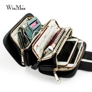 Image 5 - Women Spring Fashion Chain Shoulder Bags Brand Flap Designer 3 Layer Handbags Clutch Ladies Metal Buckle Crossbody Messenger Bag