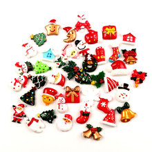 100/10Pcs Resin Christmas Embellishments For Crafts Flatback Scrapbooking Cabochon kawaii Decoration Versiering Diy