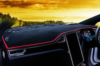 Black Dashboard Protective Mat for 2012–2020 Tesla Model X Right Hand Drive