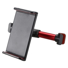 Car Headrest Mount Rear Bracket Phone Stand 360 Degree Rotating, red
